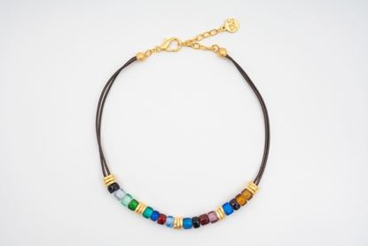 Picture of PANTONE LEATHER  NECKLACE - MULTICOLOR