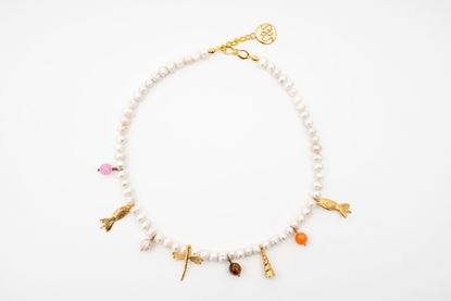 Picture of CHARM NECKLACE - PEARL