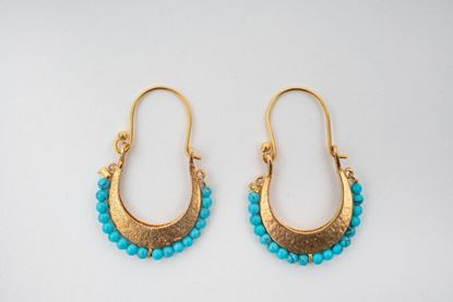 Picture of BEREBERE HOOP EARRING - BLUE