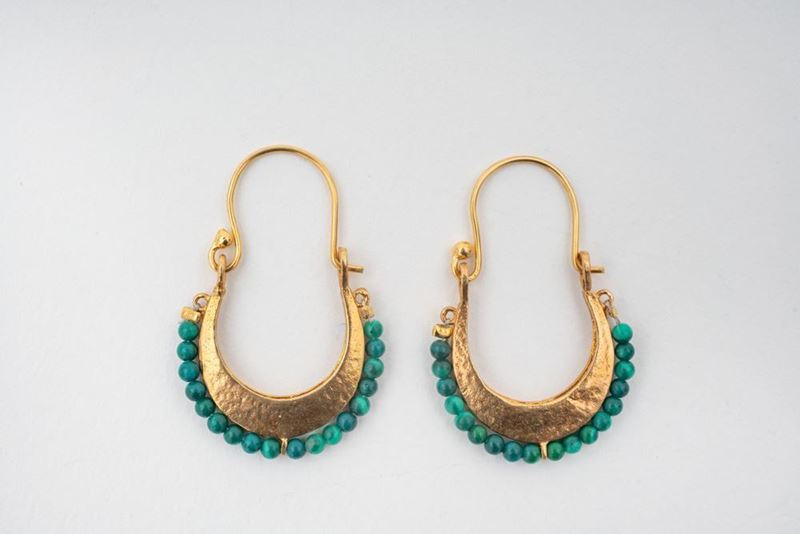 Picture of BEREBERE HOOP EARRING - GREEN