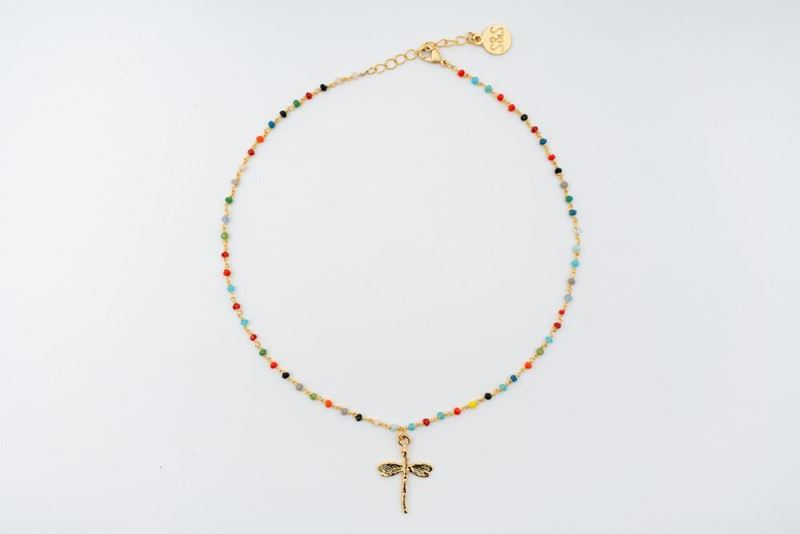 Picture of RAINBOW DRAGONFLY NECKLACE