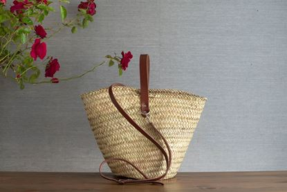 Picture of SHOPPING BASKET - CHOCOLATE LEATHER