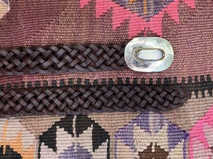 Picture of PLAITED CHOCOLATE BELT