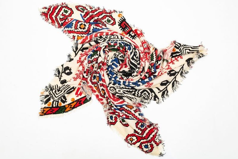 Picture of AZTECA PRINT SCARF