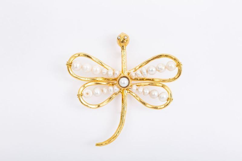 Picture of DRAGONFLY BROOCH - PEARL