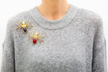 Picture of SPIDER BROOCH - GREEN