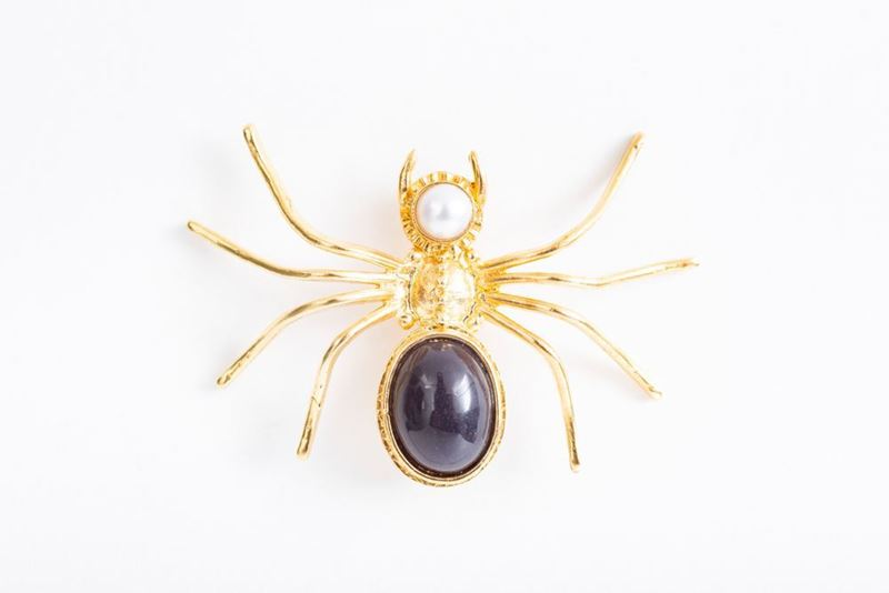 Picture of SPIDER BROOCH - NAVY