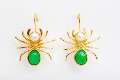 Picture of SPIDER EARRING - GREEN