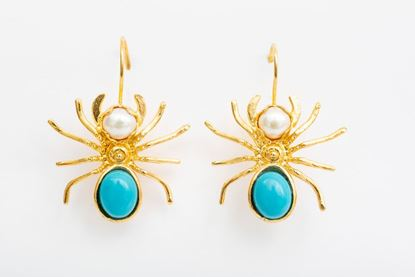 Picture of SPIDER EARRING - BLUE