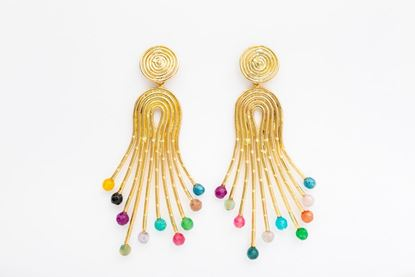Picture of PEACOCK EARRING MULTICOLOR
