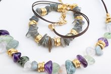 Picture of PIETRA LEATHER NECKLACE - MULTICOLOR