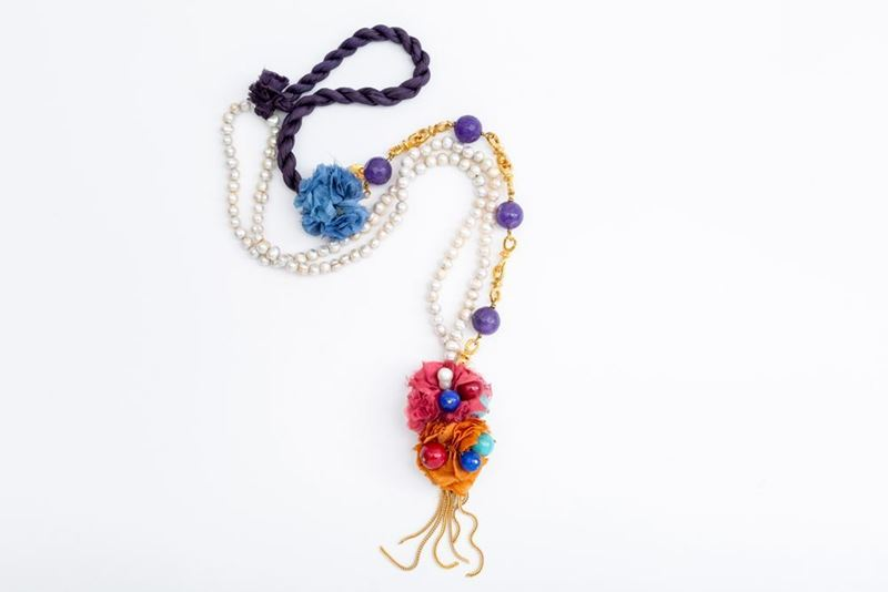 Picture of PEARLS LONG MIX NECKLACE AMETHYST