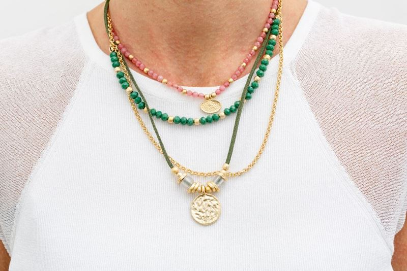 Picture of MULTI AZTECA GREEN & PINK