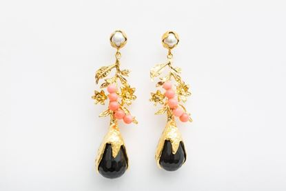 Picture of NEW LEA EARRING - BLACK