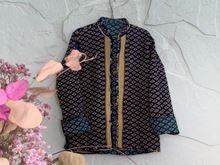 Picture of LONG REVERSIBLE SILK JACKET L - 2