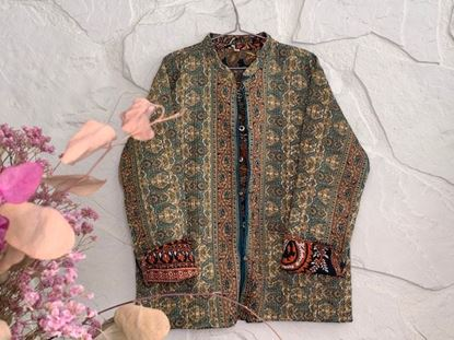 Picture of LONG REVERSIBLE SILK JACKET XXL - 1